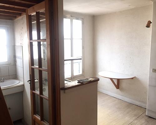 Studio à rénover Paris 11 Roquette